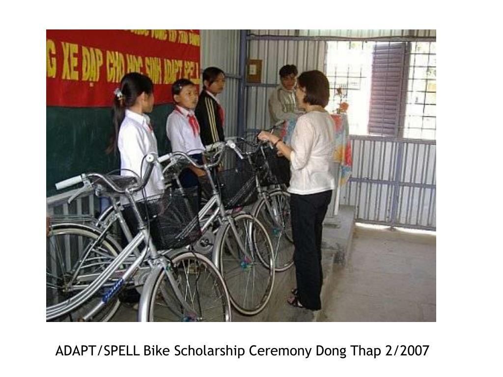ADAPT/SPELL Bike Scholarship Ceremony Dong Thap 2/2007
