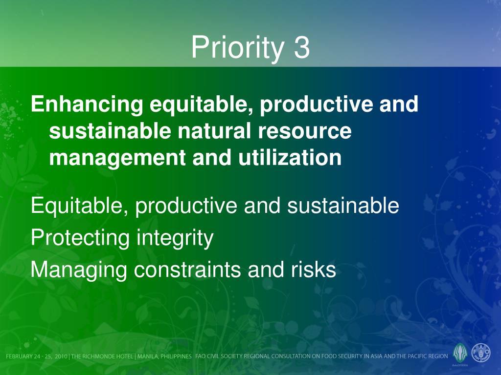 Priority 3