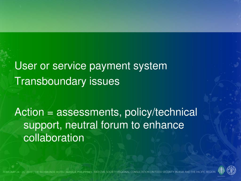 User or service payment system