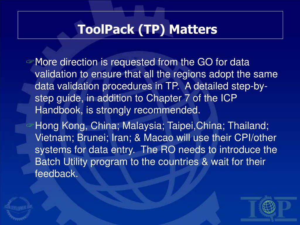 ToolPack (TP) Matters