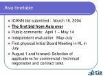 asia timetable