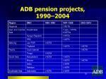 adb pension projects 1990 2004