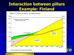 interaction between pillars example finland