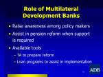 role of multilateral development banks