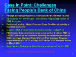 case in point challenges facing people s bank of china