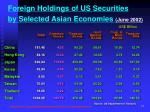 foreign holdings of us securities by selected asian economies june 2002