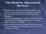 the need for specialized services1
