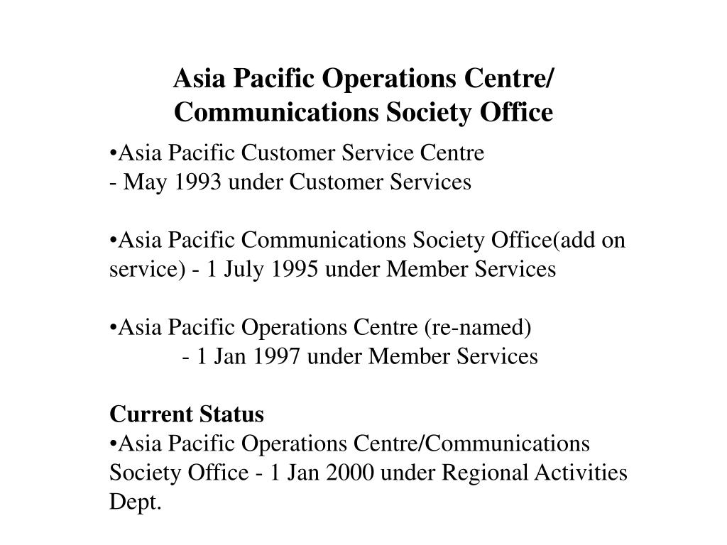 Asia Pacific Operations Centre/