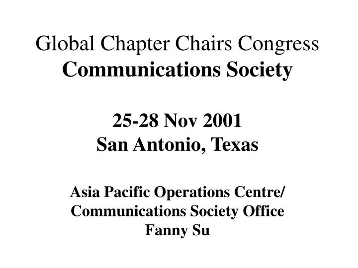 Global Chapter Chairs Congress