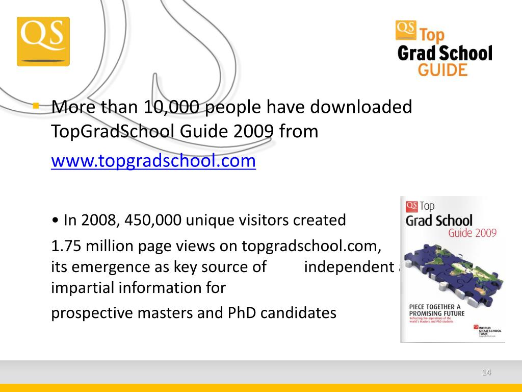 More than 10,000 people have downloaded TopGradSchool Guide 2009 from