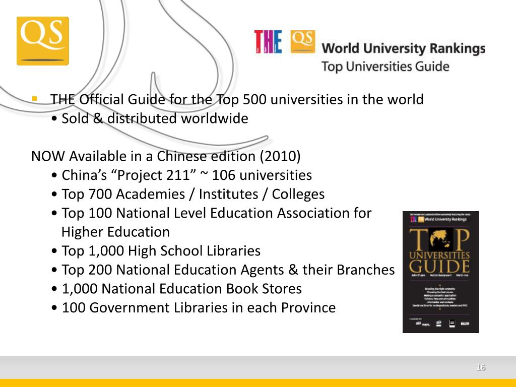 THE Official Guide for the Top 500 universities in the world