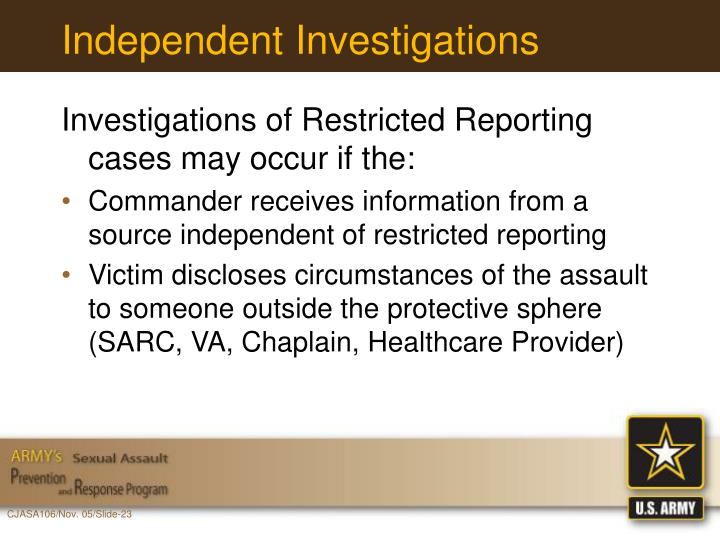 Independent Investigations