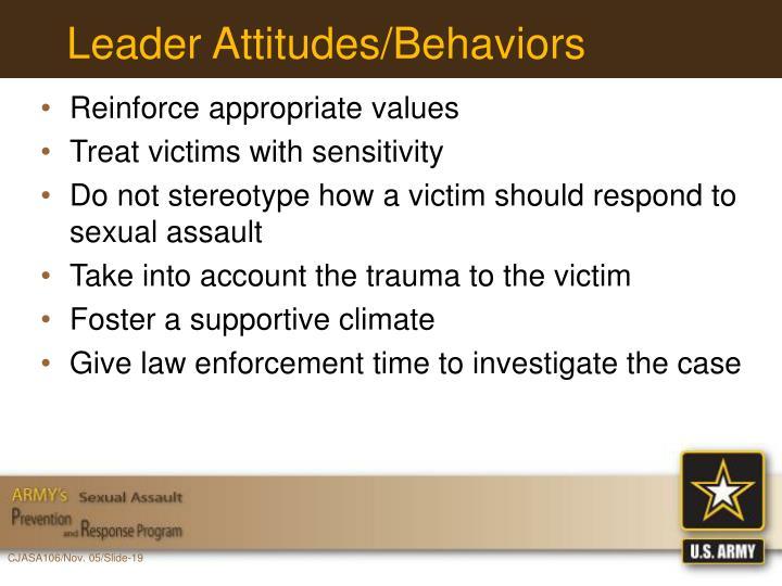 Leader Attitudes/Behaviors