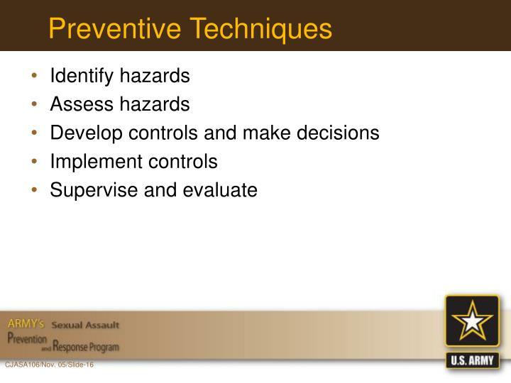 Preventive Techniques
