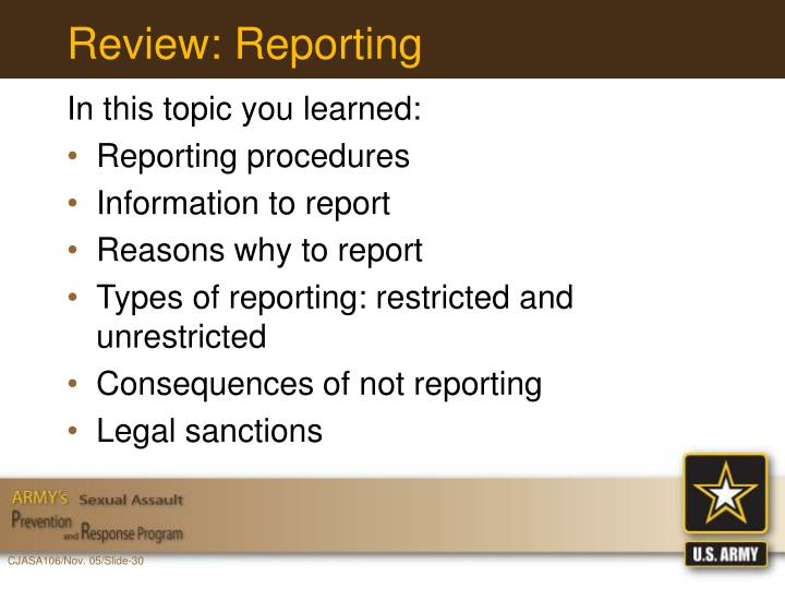 Review: Reporting