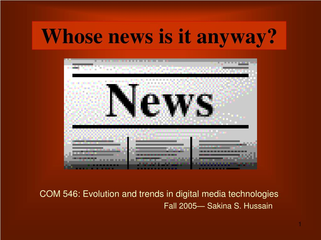 whose news is it anyway l.
