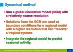 dynamical method