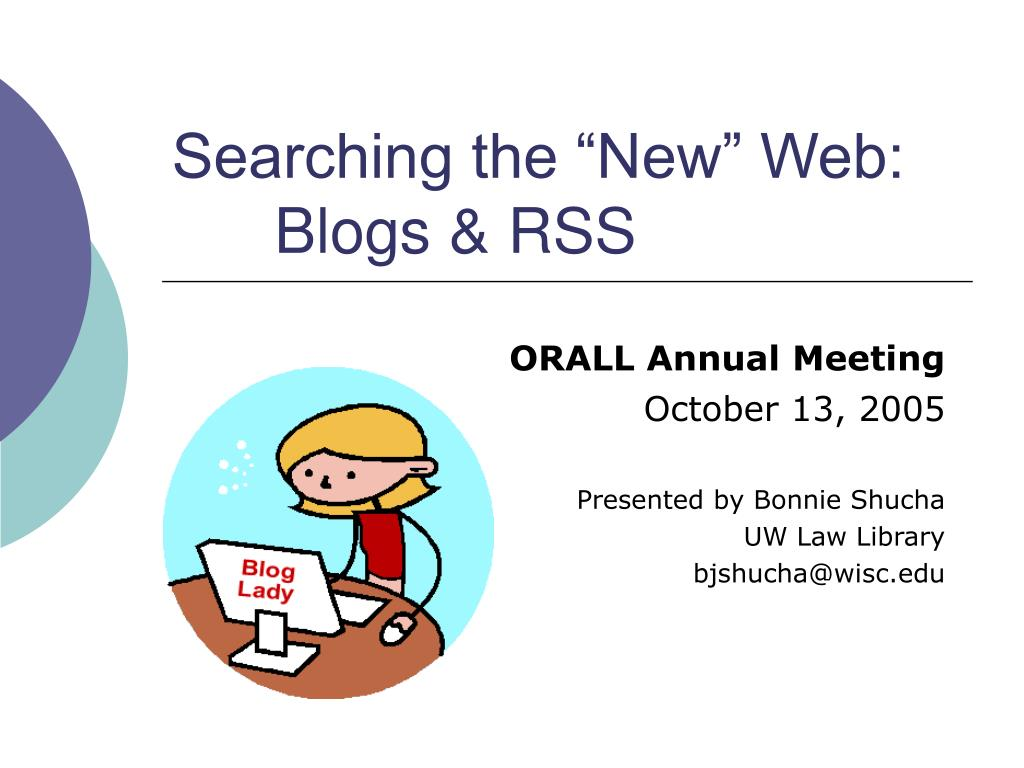 searching the new web blogs rss
