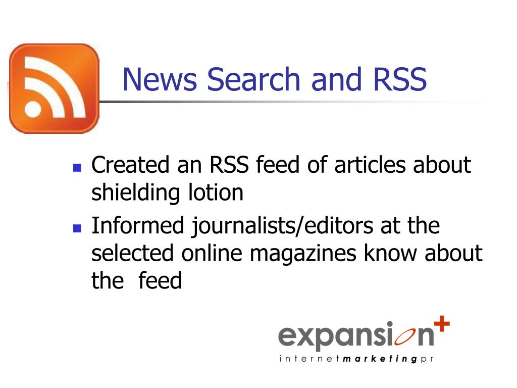 News Search and RSS