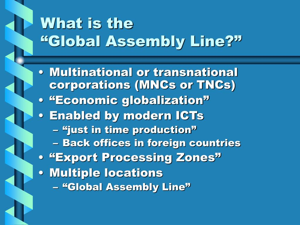 transformationalist globalization examples