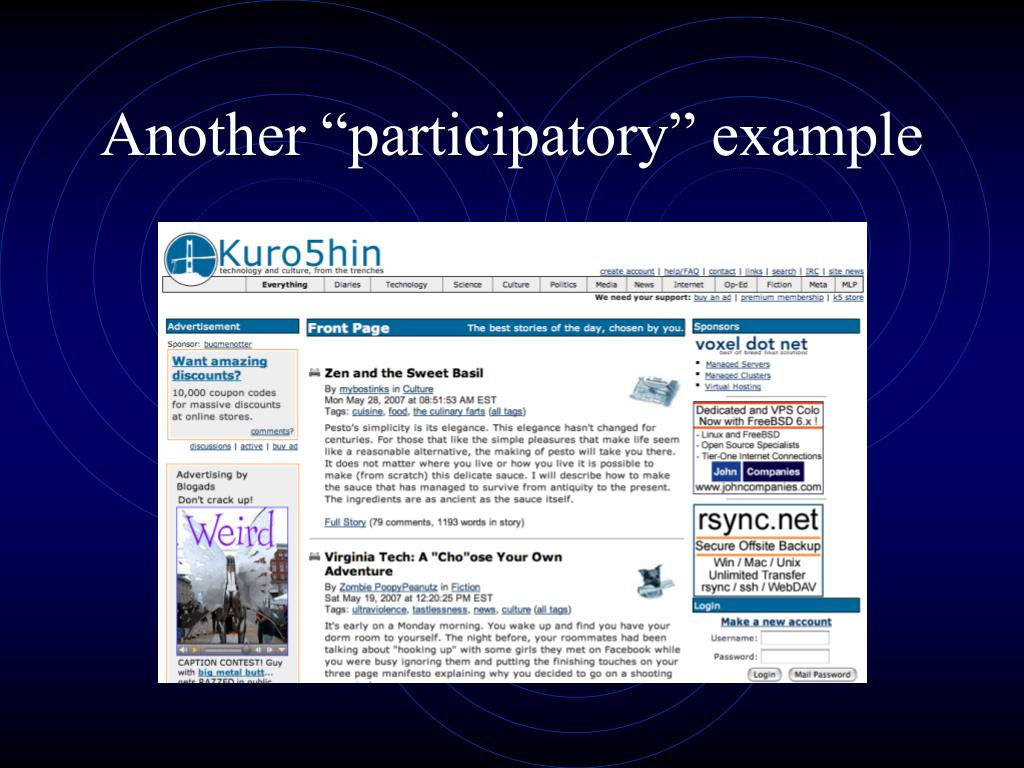 """Another """"participatory"""" example"""