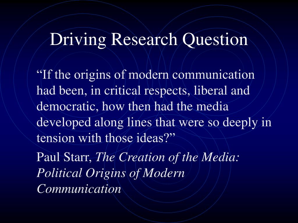 Driving Research Question