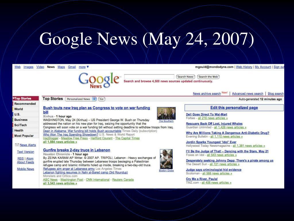 Google News (May 24, 2007)