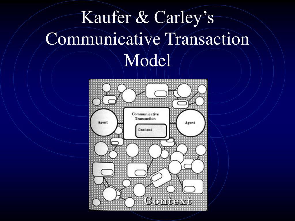 Kaufer & Carley's Communicative Transaction Model