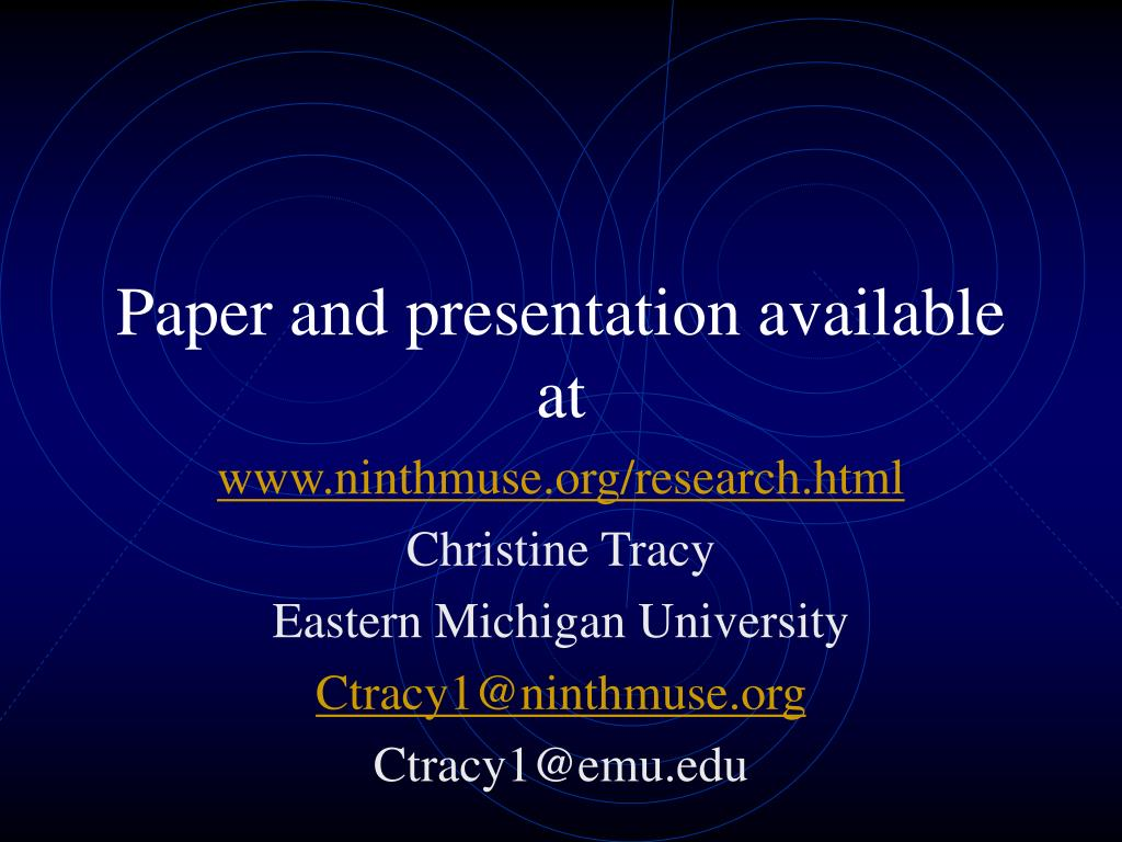 Paper and presentation available at