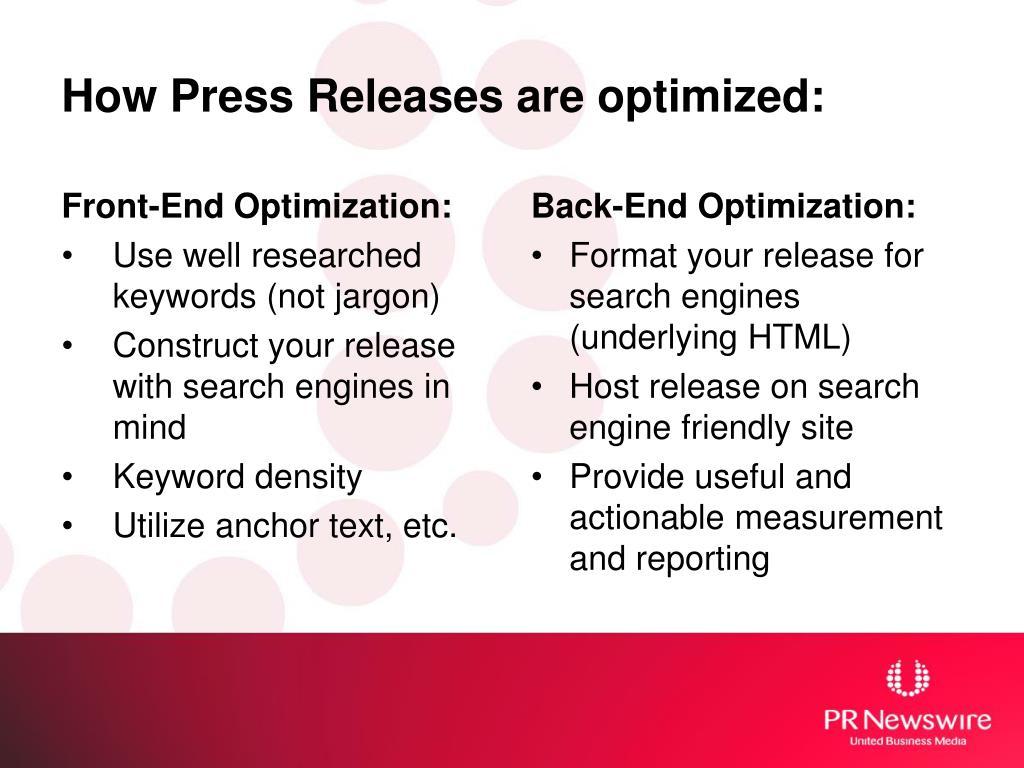 Front-End Optimization: