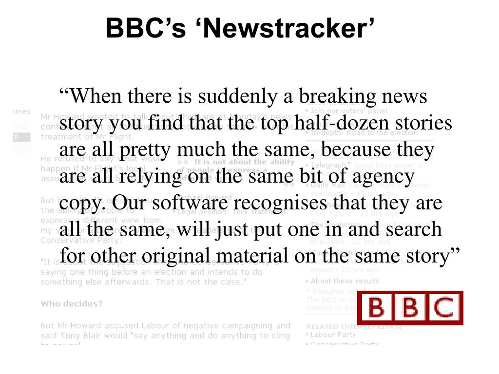 BBC's 'Newstracker'
