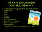 the fair employment and housing act