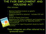 the fair employment and housing act1