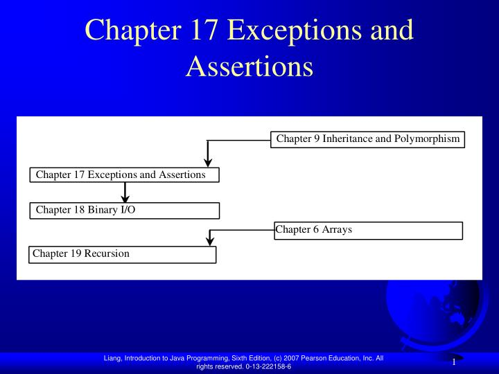 chapter 17 exceptions and assertions n.
