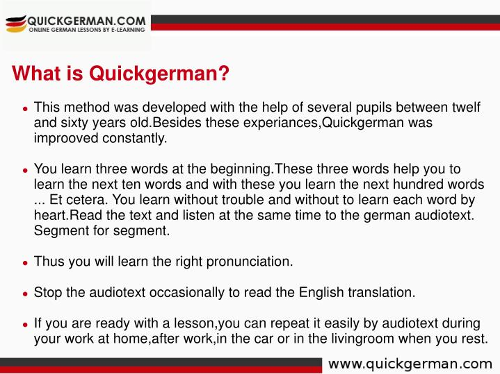 What is Quickgerman?