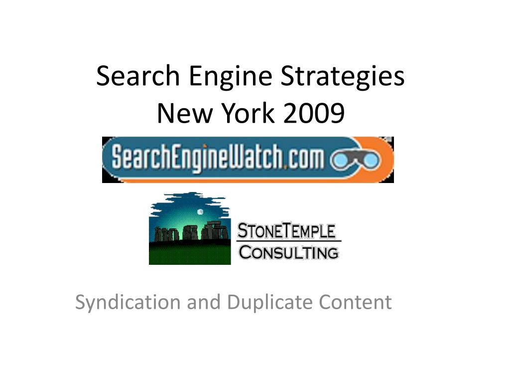search engine strategies new york 2009 l.