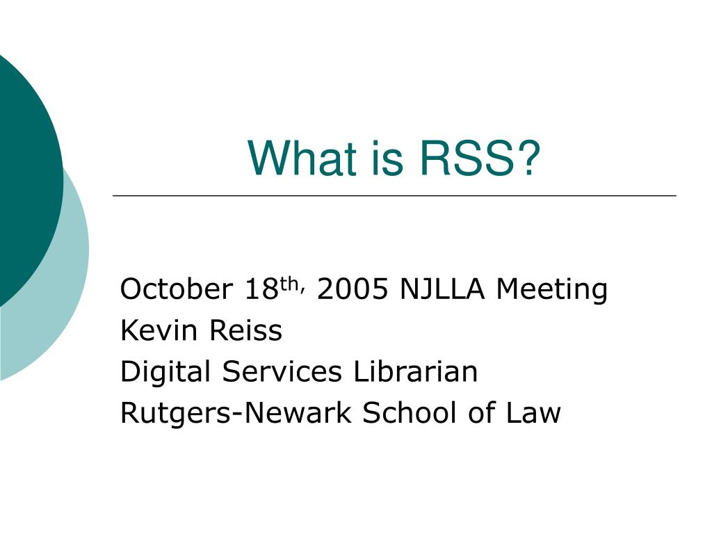 what is rss l.