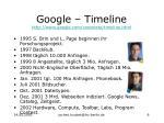google timeline http www google com corporate timeline html