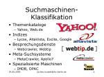 suchmaschinen klassifikation