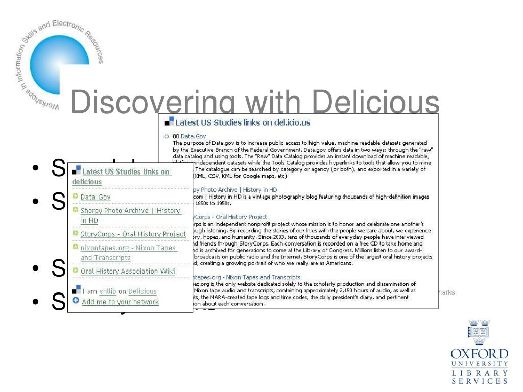 Discovering with Delicious