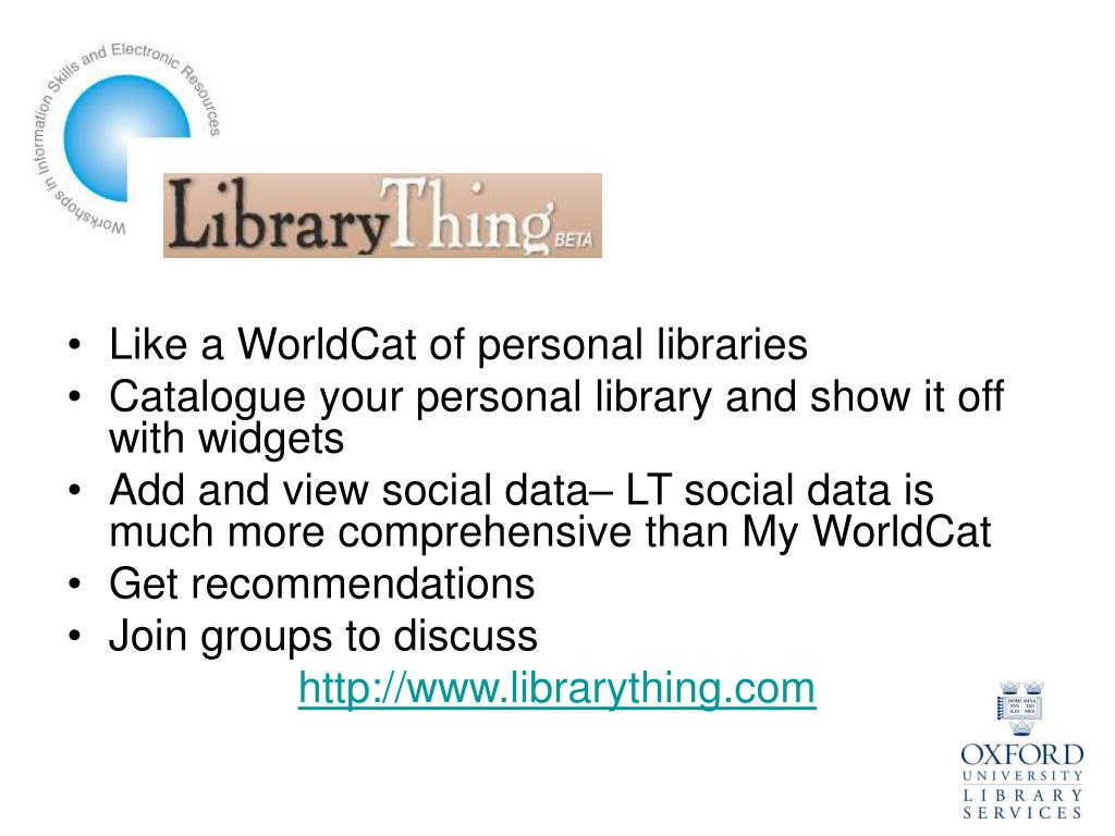 Like a WorldCat of personal libraries