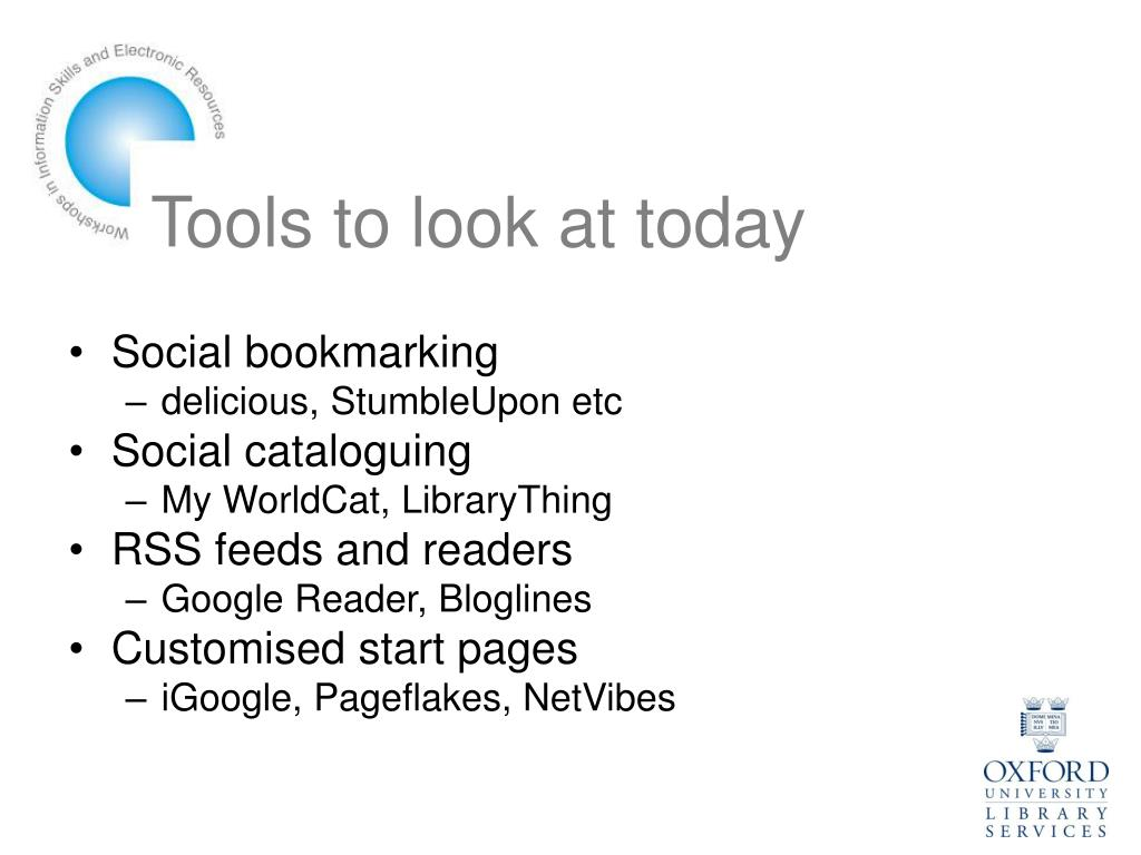 Tools to look at today