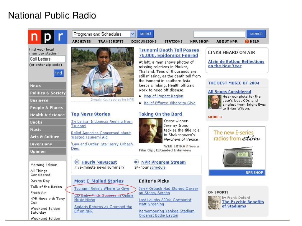 National Public Radio