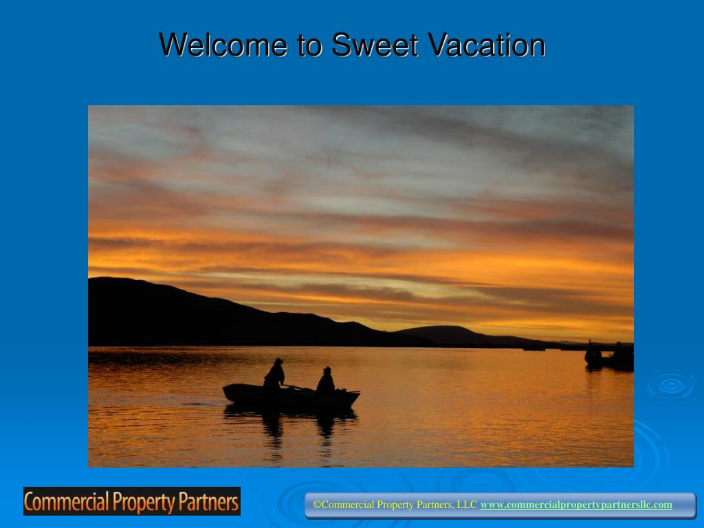 welcome to sweet vacation l.