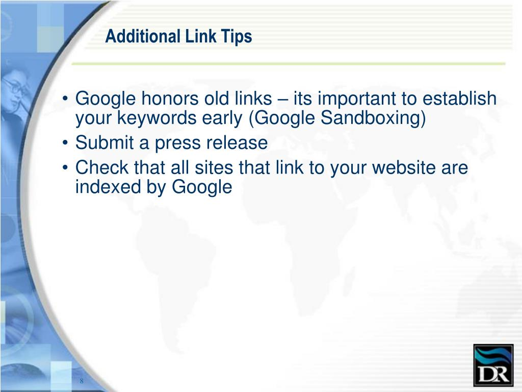 Additional Link Tips