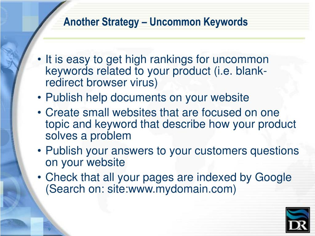 Another Strategy – Uncommon Keywords