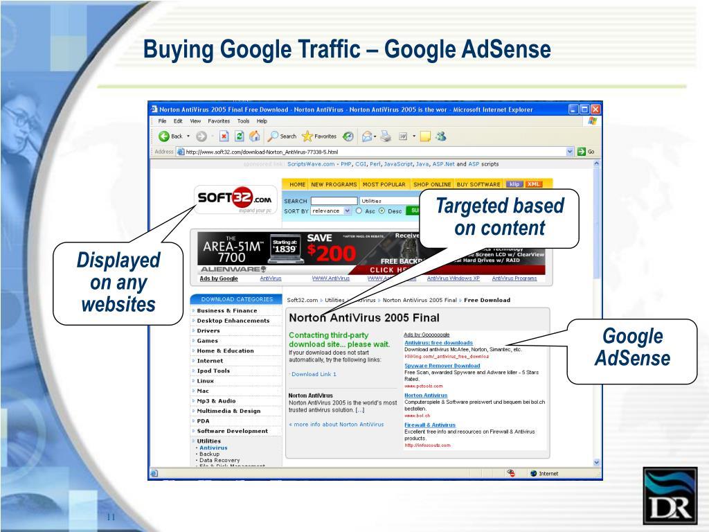 Buying Google Traffic – Google AdSense