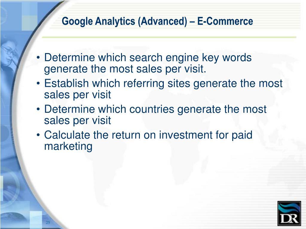 Google Analytics (Advanced) – E-Commerce