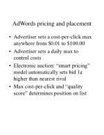 adwords pricing and placement