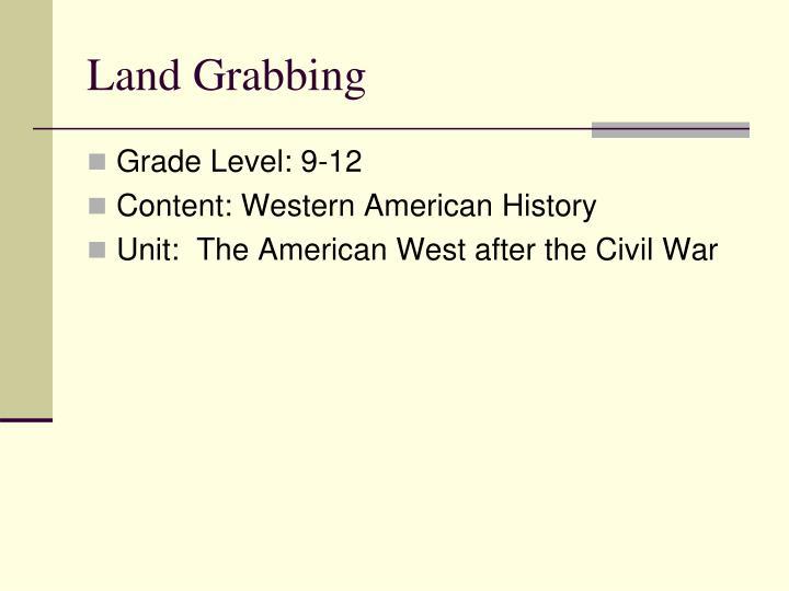 Land grabbing1